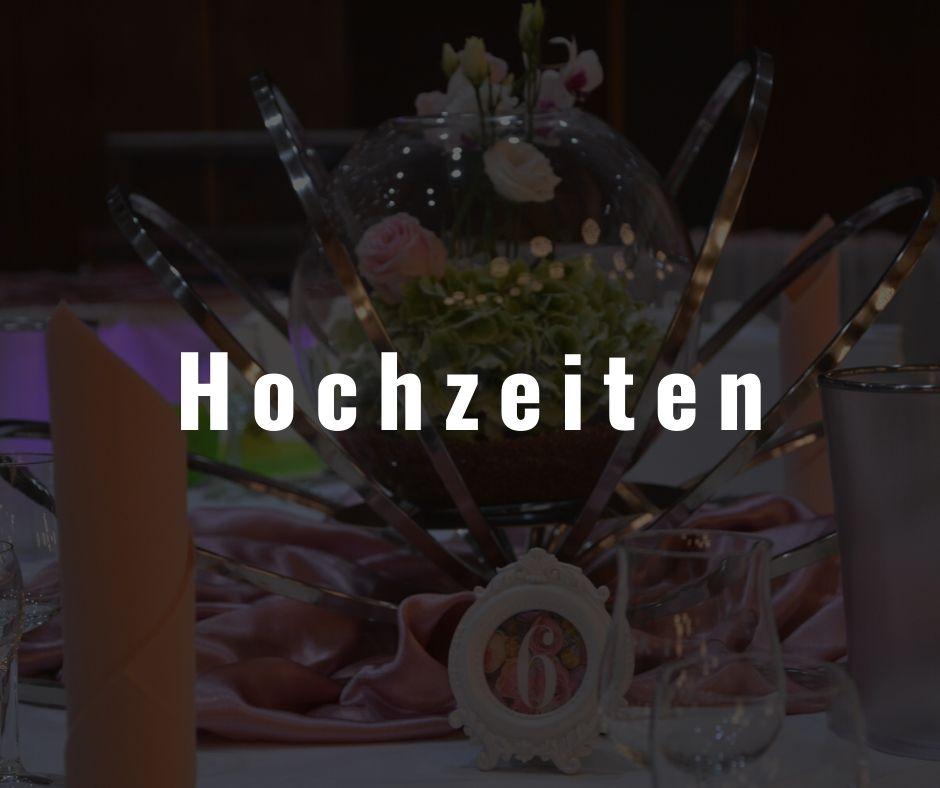 Teil einer Dekoration für eine Hochzeit im Restaurant Die Bühne in Ramstein.