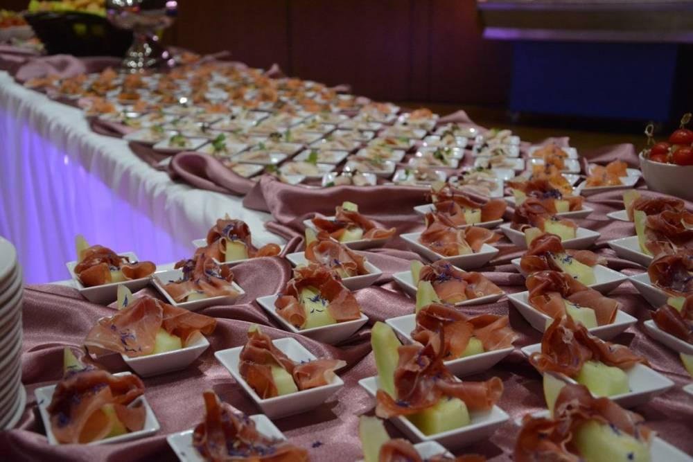 Für Hochzeiten angerichtete Vorspeisen vom Restaurant Die Bühne in Ramstein